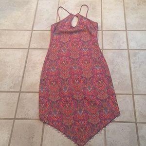 ❤️ Multi-colored halter dress SMALL NWOT